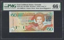 East Caribbean States Grenada 50 Dollars 2003 UNC (Pick 45g) PMG-66 EPQ