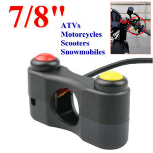 """Motorcycle 7/8"""" Switch Horn Headlight Switch Turn Signals Push Button Handlebar"""