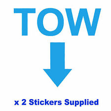 2 x MSA Specification - LIGHT BLUE TOW Arrow Race / Rally Car Decals / Stickers
