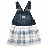 New OshKosh B'gosh Toddler Girl Denim Jumper Dress Choose Size MSRP $36.00