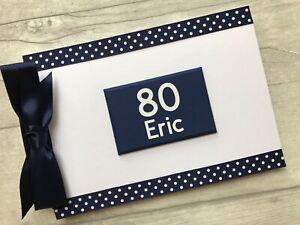 Personalised 80th Birthday Memory Book Scrapbook Photo Album Guest Book Gift