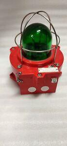 MEDC TYPE NO. XB4   220V BECON LIGHT GREEN COLOUR