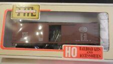 Train Miniature HO New York Central Wood DS Boxcar Kit, NIB