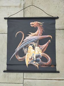 Alchemy Gothic Poster Vintage Scroll Canvas Print Dragon Woman