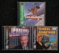 Lot 3 Video Games Ps1 Playstation one Complete TESTED Coolboarders 3 Jeopardy ..