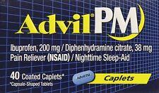 Advil PM Caplets 40ct -Expiration Date 04-2020-