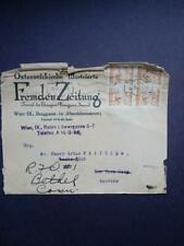 Austria Sc 311 1925 10Pf Block Of Four On Business Envelope Dated 8/20/28