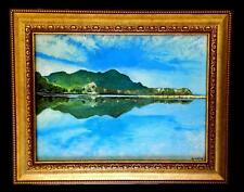 Lake Koycegiz Turkey Original Oil Painting on Canvas Framed Art Work Landscape