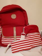 Canvas back pack and shoulder bag