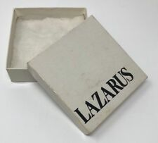 Vintage! LAZARUS Department STORES White Jewelry BOX Columbus OHIO Retired RARE