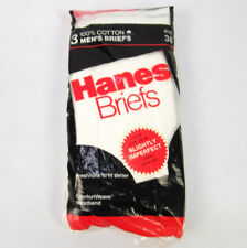 New listing 1987 Vintage Nos Hanes Briefs Mens Underwear White Size 38 Deadstock 80s Cotton