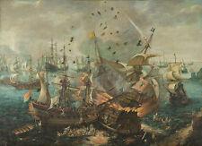 Spanish Flagship by Cornelis Claesz van Wieringen 100cm x 72.4cm Art Print
