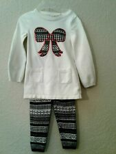 Sonoma Winter Tunic Sweater Top with matching Sweater Leggings Size 4