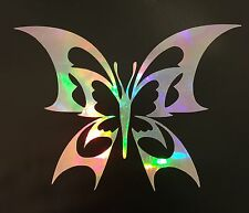 Tribal Butterfly Rainbow Holographic Vinyl Car Decal Sticker Laptop Mirror 21-19