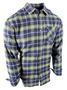 Flannel Plaid Shirt Mens Soft Cotton Button Up Pocket New Colors Long Sleeve