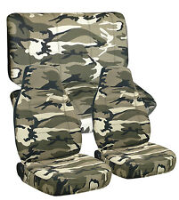Toyota Tacoma Double Cab Front & Rear  Camo Seat Covers Airbag Friendly