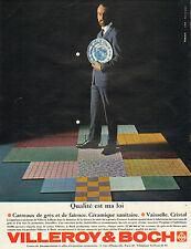Publicité Advertising 1963 VILLEROY & BOCH  carreaux de grès faience céramique