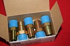 """New listing New Lot of (5) Parker 12Ma8N-S A-Lok 3/4"""" Tube X 1/2"""" Mnpt Adapters - Bnib"""
