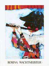 Rosina Wachtmeister Kunstdruck ARLECHINO FLAUTISTA 46x62cm Handsign: Mixed Media