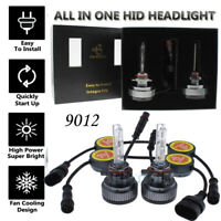 2Pcs ALL IN ONE 55W (9012) 5500K White Xenon HID Headlight Bulbs Waterproof 12V