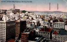 Early 1900s Postcard View of San Francisco Showing Nob Hill, Unposted  E01