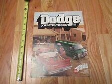 1978 Dodge Job Rated Trucks Truck Sales Brochure Automobile Car