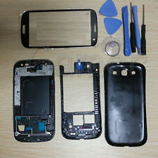 Full Housing Case + Screen Glass Tools +3M For Samsung Galaxy S3 i9300 Black