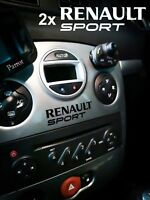 RENAULT SPORT CLIO 3 RS DASH STICKER DECAL FOR HEAD UNIT CD Player AUX STEREO X2