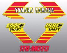 1984 YAMAHA YTM200 YTM 200 TRI-MOTO THREE WHEELER DECAL KIT ORIGINAL YELLOW 200