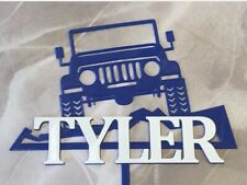 Custom Jeep Wrangler Cake Topper Personalized Car Cake Topper