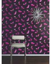 Arthouse VIP Stiletto Black/Pink Wallpaper 623002
