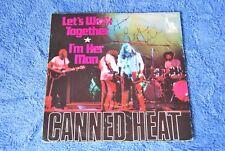 Bob Hite of Canned Heat Single Rare 45RPM Signed Autograph