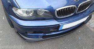Splitter for BMW E46 M Sport Bumper spoiler lip Chin tech mt2 CSL Valance apron