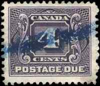 Canada #J3 used VF 1928 First Postage Due 4c reddish violet CV$30.00