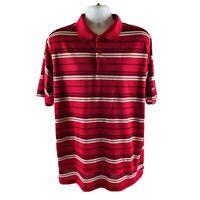 Antigua Golf Polo Shirt Mens XL Multi Colored Striped Desert Dry Feature Mint !