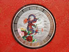 2012 Year of the Dragon Chinese Lunar Zodiac Colored Silver Coin Token 60mm