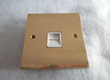 SINGLE SECONDARY TELEPHONE OUTLET SOCKET - CAST BRASS WHITE INSERT KV802W