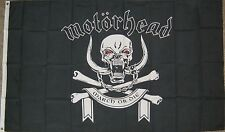 "New 3' by 5' Motorhead ""March or Die"" Flag. Free Shipping in Canada & USA!"