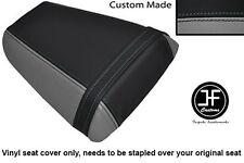 Vinilo Gris y Negro Personalizado Para Honda CBR 600 F 01-03 Trasero Cubierta de asiento solamente
