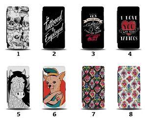Tattoo Flip Wallet Case Tattoos Design Skulls Tattooed Funny Ink Gift 8241