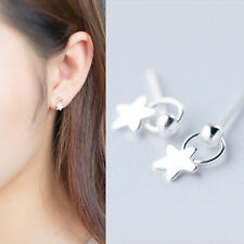 Ohrstecker Stern echt Sterling Silber 925 Damen Mädchen Ohrringe