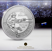 CANDA 2013 $20 for $20 Hockey .9999 SILVER  COIN  (#7 in series) – TAX EXEMPT