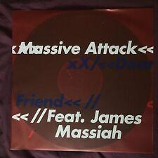 "MASSIVE ATTACK ""DEAR FRIEND""  VINYLE 12"" BLEU RARE NEUF / NEW 1000 EXEMPLAIRES"