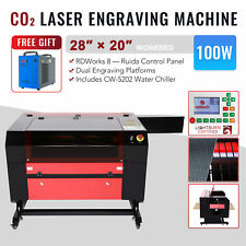 Omtech 100w 28x20in Co2 Laser Engraver Engraving Machine W 5202 Water Chiller