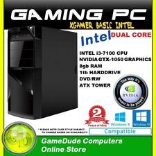 INTEL DUAL CORE 3.9Ghz GAMING PC 8GB ram 1tb HDD GTX-1050 Graphics DVD/RW