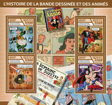 Chad 2017 MNH Cartoons & Animation Flash Gordon Mandrake 4v M/S Stamps