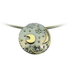 Sternenschmuck Himmelsscheibe von Nebra 30mm Anhänger 925/- Silber vergoldet