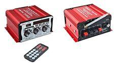 MINI AMPLIFICATORE AUTO CAMPER MOTO 2 CANALI 12 VOLT USB/SD MP3 RADIO FM MA-600