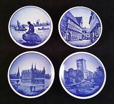 "Souvenir Plates - Royal Copenhagen and Denmark - Lot of 4 - Delft Small Mini 3"""