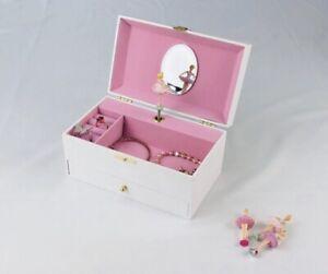 Ballerina Musical Jewellery Box, Music Box For Girls,black Ballerina Music Box